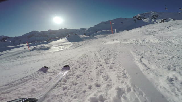 Winter Breaks, Ski slope skiers point of view
