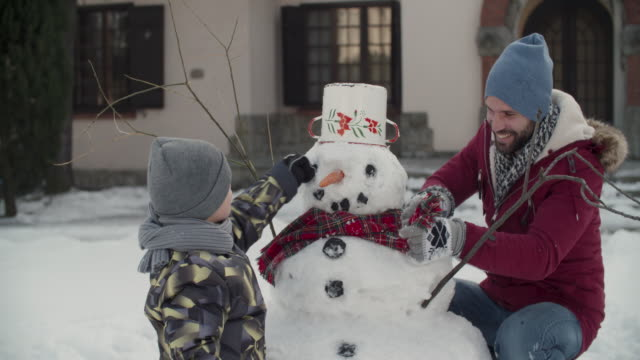 winter breaks - snowman stock videos & royalty-free footage
