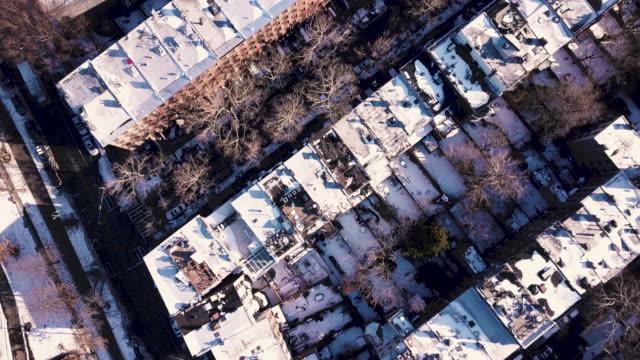 winter brooklyn aerial - brooklyn new york stock videos & royalty-free footage