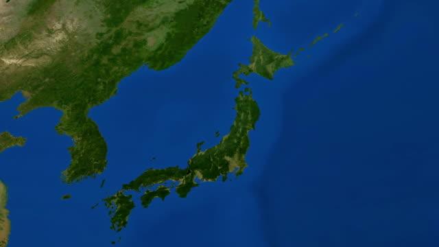 冬が日本 - 地図点の映像素材/bロール