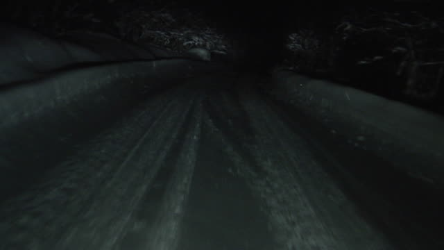 winter driving 07 - mountain road stock videos & royalty-free footage