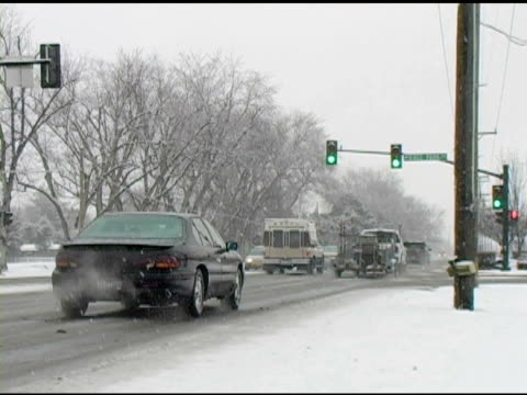 winter driving conditions - tail light stock videos & royalty-free footage
