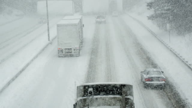 Winter Driving in Blizzard