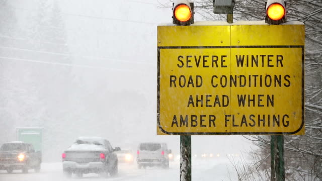 winter driving snow blizzard - danger stock videos & royalty-free footage