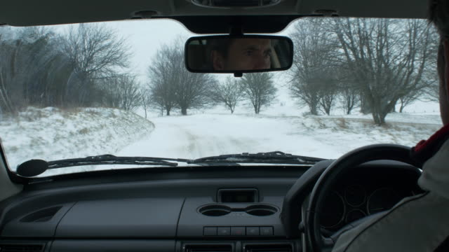 winter driving - sports utility vehicle stock videos and b-roll footage
