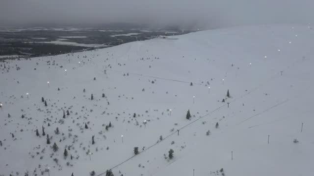 vinterskog i snön - kulle bildbanksvideor och videomaterial från bakom kulisserna