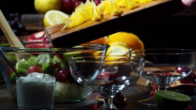 winter fruit salad - fruit salad stock videos & royalty-free footage