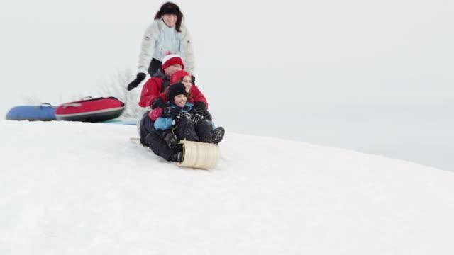 winter fun - fatcamera stock videos & royalty-free footage