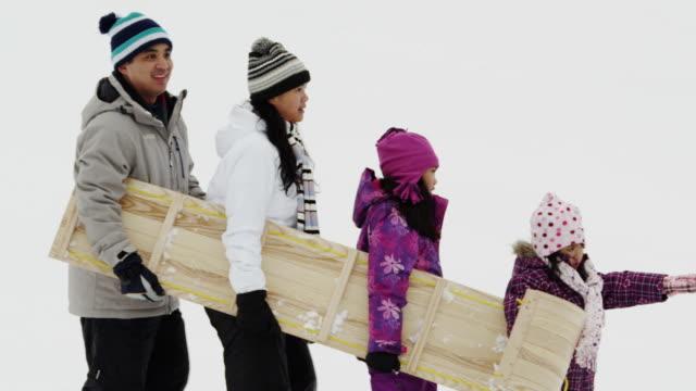 winter fun - ethnicity stock videos & royalty-free footage