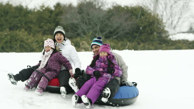 winter fun - leisure activity stock videos & royalty-free footage