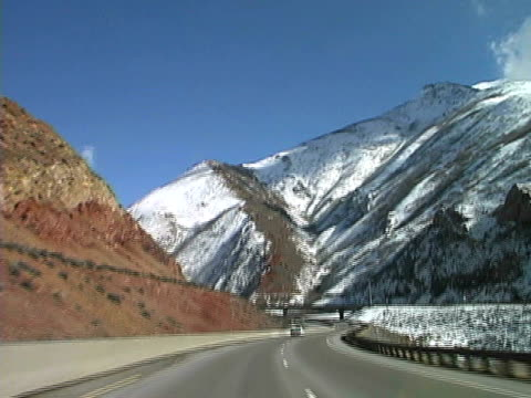 winter highway drive - park city stock videos & royalty-free footage