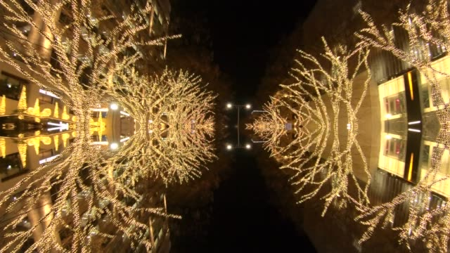 Winter Illumination mirroring in water