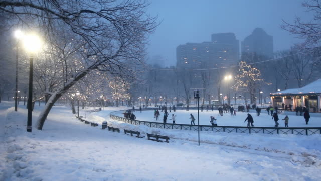 winter in boston - cold temperature stock videos & royalty-free footage