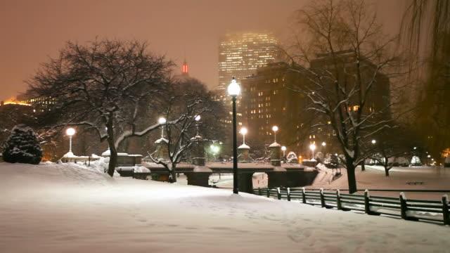 vídeos y material grabado en eventos de stock de invierno en boston - bahía de back boston