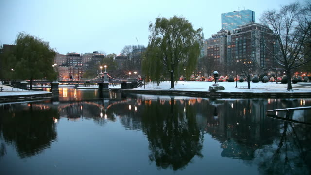 winter in boston - back bay boston stock videos & royalty-free footage