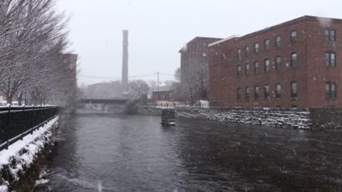 stockvideo's en b-roll-footage met winter in dover (new hampshire) - verwerkingsfabriek