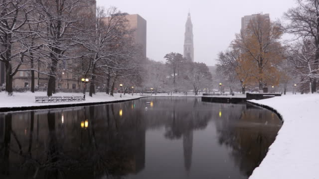 winter in hartford, connecticut - connecticut stock videos & royalty-free footage