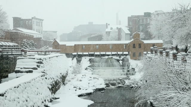 winter in lowell, massachusetts - lowell stock videos & royalty-free footage