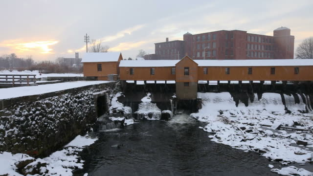 winter in lowell - industrial revolution stock videos & royalty-free footage