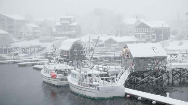 winter in maine - maine stock videos & royalty-free footage