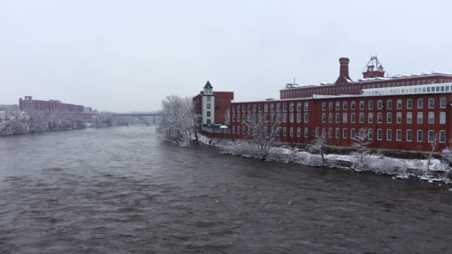 winter in manchester, new hampshire - industrial revolution stock videos & royalty-free footage