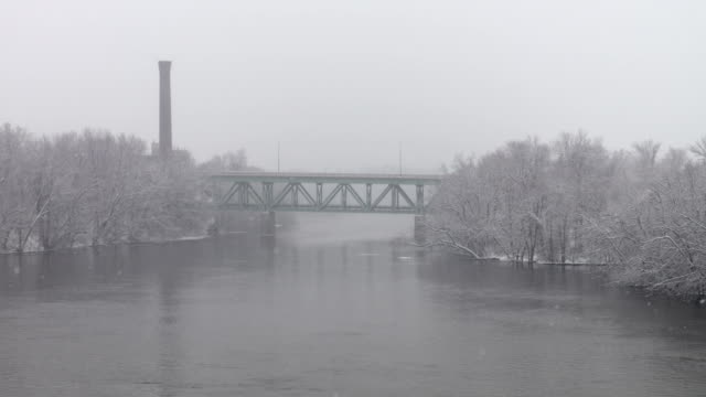 winter in manchester, new hampshire - manchester stock videos and b-roll footage