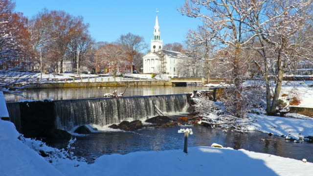 winter in milford, connecticut - new haven stock-videos und b-roll-filmmaterial