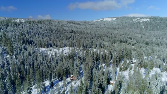 winter in mountains - yosemite national park video stock e b–roll
