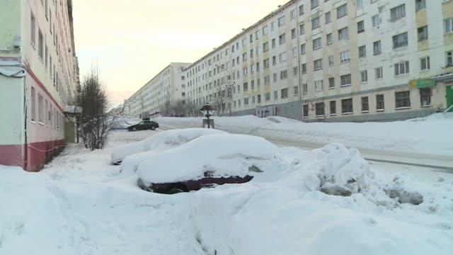 winter in murmansk - winter点の映像素材/bロール