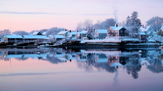 winter in new hampshire - new hampshire stock videos & royalty-free footage