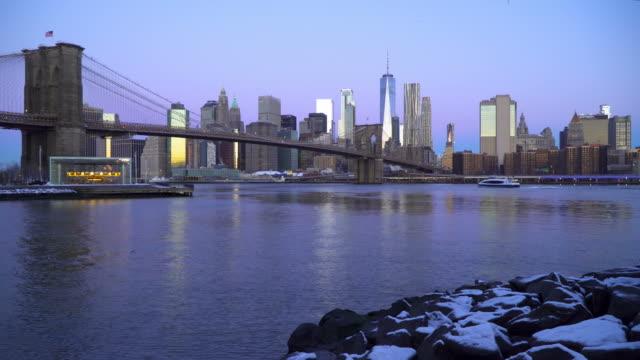 ニューヨークの冬 - ブルックリン橋点の映像素材/bロール