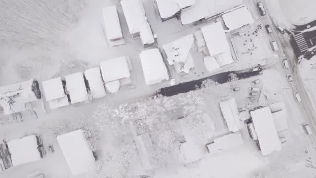 winter in niseko, japan. (4k aerial videos) - ゲレンデ点の映像素材/bロール