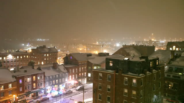 winter in portland - maine stock videos & royalty-free footage