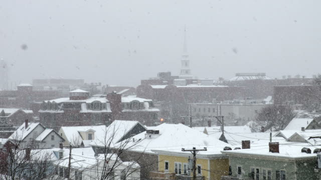 winter in portsmouth, new hampshire - region new england stock-videos und b-roll-filmmaterial