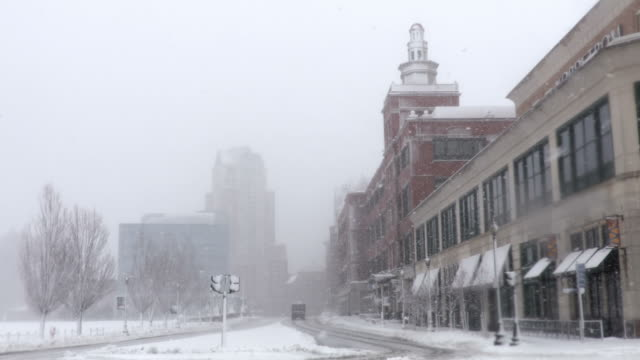 winter in providence, rhode island - new england usa stock videos & royalty-free footage