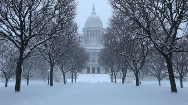 冬は、ロードアイランド州