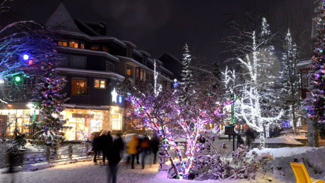 Winter in Whistler village