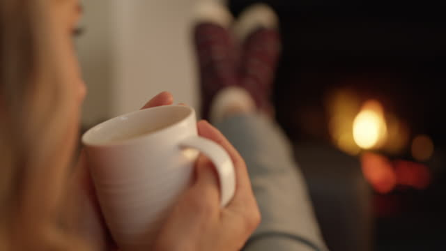 winter is a time for comfort - drinking stock videos & royalty-free footage
