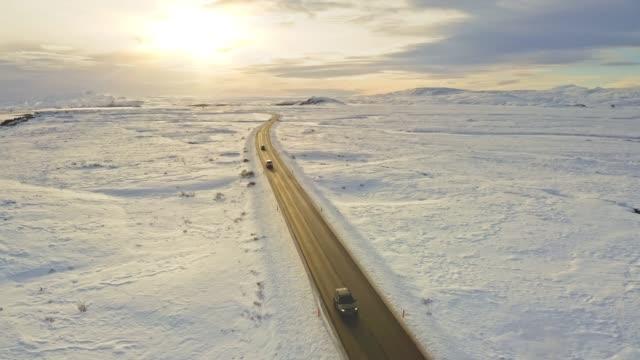 winterreise - ebene stock-videos und b-roll-filmmaterial