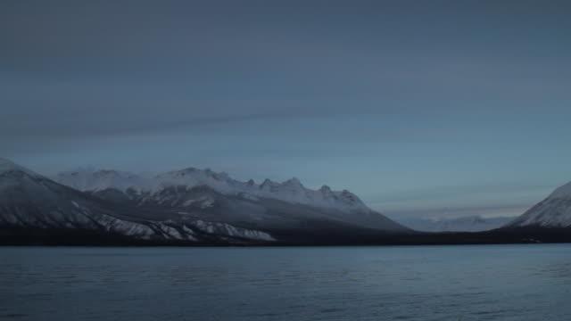 winter lake pan - snowcapped mountain stock videos & royalty-free footage