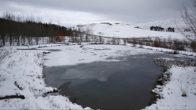 winter landscape at broughton knowe, near broughton in the scottish borders, scotland - 30 seconds or greater stock videos & royalty-free footage
