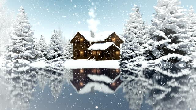 vídeos de stock, filmes e b-roll de paisagem de inverno/circulares - snow cornice