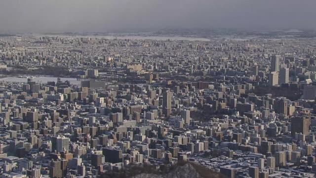 AERIAL, Winter Landscape Of Sapporo