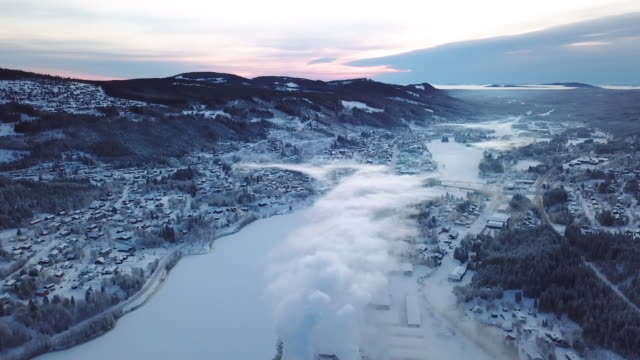 winter landscape skiing - sweden stock videos & royalty-free footage