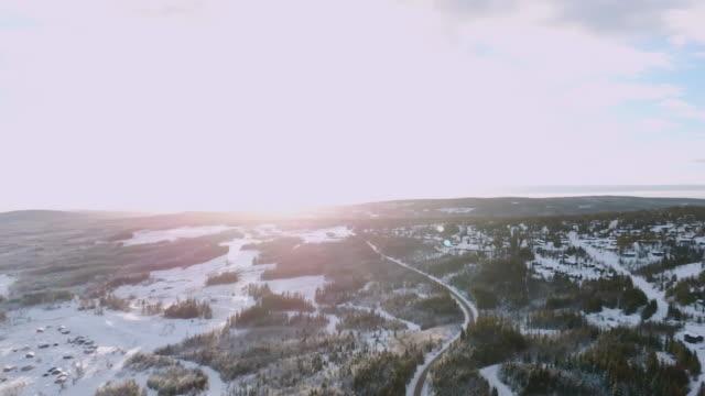 Winterlandschaft Skifahren