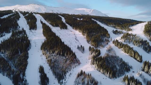 vídeos y material grabado en eventos de stock de paisaje de invierno esquí de fondo - suecia