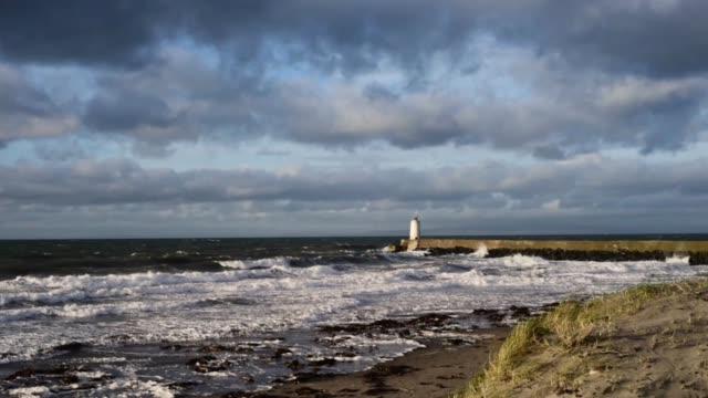 winter light at girvan harbour-scotland. - david johnson stock videos & royalty-free footage