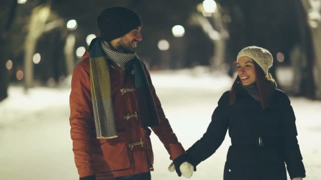 winter loving - couple relationship videos stock videos & royalty-free footage