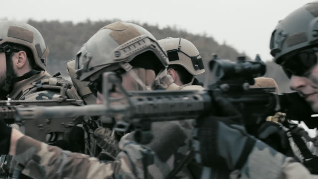 winter military mission - five people stock videos and b-roll footage