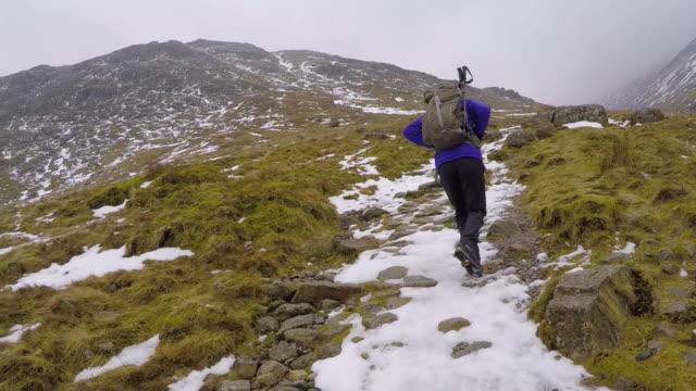 Winter mountain POV walking